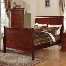 Full Size Platform Bed Frame Footboard Headboard Bedroom Furniture Sleigh Wood