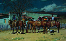 """""""Early to Bed, Early to Ride"""" R. S. Riddick Western Fine Art Giclee Print"""
