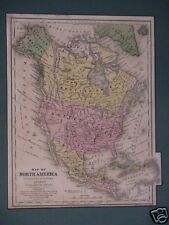 Map of North America, David Burgess, 1853