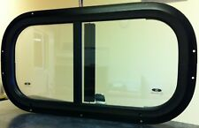 Horsebox Window 19 1/4 x 10 1/4 Side Sliders Black