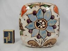 Well shaped handpainted formschöne handbemalte ERHARD SCHIAVON Vase Italy 14,5cm