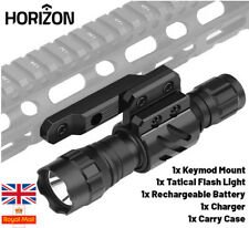 Horizon Tactical 1600 Lumen KEYMOD Rechargeable Torch flashlight Airsoft Case UK