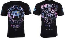 AMERICAN FIGHTER Men T-Shirt SILVER LAKE GALAXY Athletic BLACK Biker Gym UFC $40
