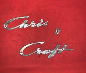 Small Chris Craft Chrome Emblem with Star