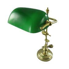 Les banquiers lampe lampe de bureau modèle New York en laiton poli hauteur 50 cm vert