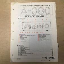 Original Yamaha Service Manual for the A-960 Integrated Amplifier Repair