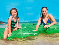 Big Ride-on Inflatable Raft Crocodile Gator Alligator Float For baby Rideable US