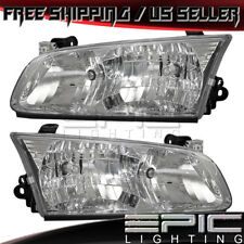 2000-2001 Toyota Camry Headlights Headlamps - Left Right Sides Pair