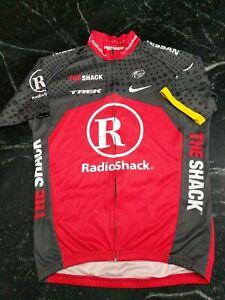 RADIOSHACK TREK LIVESTRONG NIKE UCI WORLD TOUR CYCLING SS jersey FULL ZIP Medium