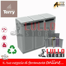 PATTUMIERA RACCOLTA DIFFERENZIATA MULTIPLA 3 POSTI ARMADIO RESINA ECO TERRY