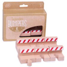 Train Track End Bumpers (6-pack) | Wooden Toy Train Accessories