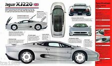 1993 JAGUAR XJ220 SPEC SHEET/Brochure/Pamphlet/Catalog
