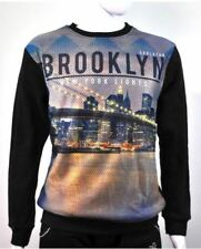 Fashionista Men | Fashionable Sweater Sweatshirt Brooklyn Design (Black)