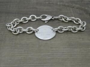 "Genuine Vintage Tiffany & Co Sterling Silver 'Return To Tiffany' 8"" Tag Bracelet"