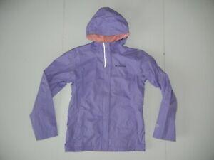 COLUMBIA Purple Nylon WINDBREAKER JACKET Hiking Rain Coat Kid Sz YOUTH L Girl