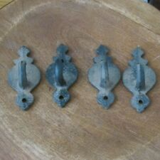 4 Matching Cast Iron Coat or Hat Hooks, 4 Inch