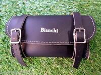 BIANCHI Bag borsa borsello sottosella bicicletta vintage nero saddle epoca seat