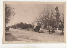 Kenitra Boulevard Capitaine Petitjean Morocco Vintage Postcard 376b