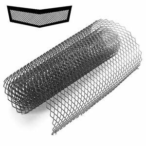Car Mesh Grilles Net Cover Aluminum For Body Front Bumper Fender Hood Vent Black