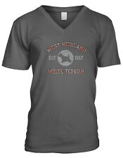 West Highland White Terrier EST 1567 Dog Lovers Pure Bred Puppy Mens V-Neck