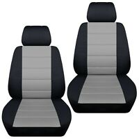 Fits 2009-2013 Mazda 3   front set car seat covers    black and silver