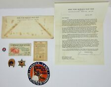 BOYS SCOUTS 1939 NEW YORK WORLD'S FAIR LOT SAFETY BADGES/PINS PATCH ID LETTER