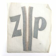 Vintage Zip Iron On Heat Transfer Decal Zipper 70s Denim Jeans Fly Jacket Zipp
