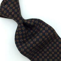 Ermenegildo Zegna Tie Ancient Madder Black Brown Motif Luxe Necktie Silk Ties L1