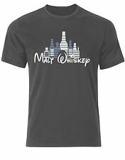 Malt Whiskey Funny Disney Castle Style Quirky Hangover Mens Tshirt Tee Top Ab78 XL Charcoal