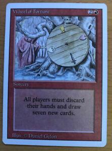 MTG - Revised - Wheel Of Fortune - EX - Magic The Gathering  LP