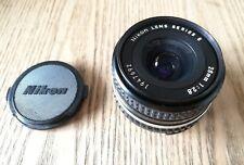 Nikon e 28mm 28 mm f 2.8 serie  E ,utilizzabile su digitali. O analogico nikkor