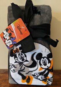New Disney Halloween Mickey & Minnie Mouse 2 Hand Towel Set