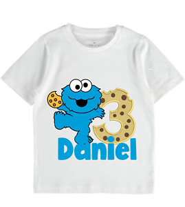 Personalised cookie monster sesame st t shirt boys clothes girl baby birthday