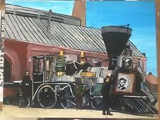 1865 Abraham Lincoln funeral train - original acrylic painting on canvas
