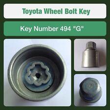 """Genuine Toyota Locking Wheel Bolt / Nut Key 494 """"G"""""""