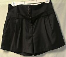 J. Crew Navy Blue Fine Wool 4 Button Hip/Belly Band Dress/Career Shorts-4-NWOT