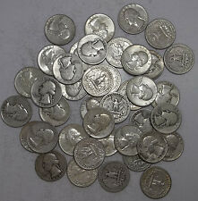 90% Silver Coins!-$10 Face Value Roll-Actual Coins Pictured-Quarters-Bullion!