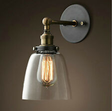 MODERN VINTAGE INDUSTRIAL LOFT METAL GLASS RUSTIC SCONCE WALL LIGHT 2006B1-3