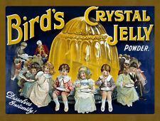 BIRD'S Crystal Jelly in polvere DOLCE Tin sign Targa In Metallo altri quelli elencati 80