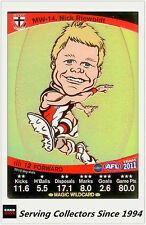 2011 AFL Teamcoach Cards Magic Wild Card MW14 Nich Riewoldt (St. Kilda)