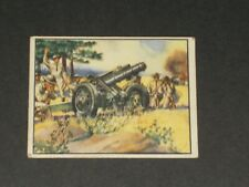 FIGHTING FORCES, Gum Inc, (V276), FIELD ARTILLERY #3, VERY NICE CARD! Set Break