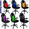 Office Gaming Executive Chair Swivel PU Leather Sports Racing Computer PC Desk