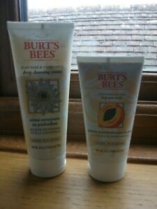 Burts Bees Deep Pore Scrub 110g & Deep Cleansing Cream 170g, Both New & Sealed
