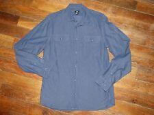Chemise bleu marine pattes d'épaule - H&M - Taille M (39/40) - Excellent état