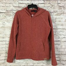 Marmot Womens Burnt Orange Wool Blend Fleece Full Zip Hoodie Jacket Size Medium