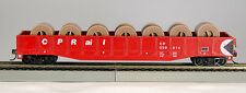 HO 54Ft Gondola CP Rail (Red) w/Fiber Optic Cable Reel Load,(1-92115)