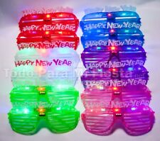 5 pc Ligthup Happy New Years Shutter Glasses Party Supplies Lentes Ano Nuevo