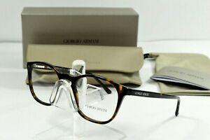 NEW Giorgio Armani Dark Havana Eyeglasses AR7074 5026 50/19/145 Round Brown