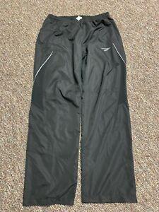 Brooks Running Jogging Pants Mens Large Reflective Black W/Zip Pockets Polyester
