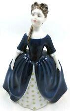 "Vintage Royal Doulton Lady Figurine Debbie HN2385 Bone China Blue Dress 6"""